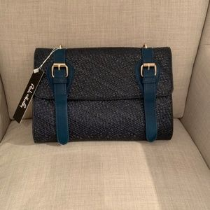 Pink Haley Bags - NEW Blue Faux Leather Crossbody/Clutch